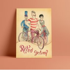 Plakat A3 - Retro cycling