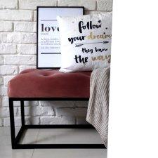 Ławeczka ławka LOFT STYLE konstrukcja na metalowym stelażu pastelowa siedzisko na buty