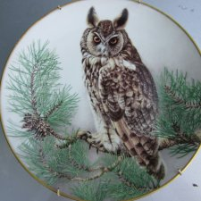 LIMOGES FRANCE 1984  - LONG-EARED  OWL  - LIMITED FIRST EDITION CRAFTED FOR FRANKLIN PORCELAIN  BY HAVILAND  LIMOGES FRANCE