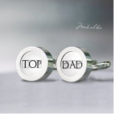 Top Dad - spinki do mankietów stalowe