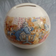 royal Doulton Bunnykins celebrate your christening porcelanowa skarbonka