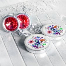 srebrne Swarovski / art glass
