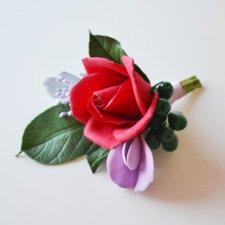 Butonierka Czerwona róża