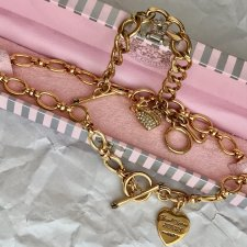 LUXURY JUICY COUTURE - GOLD PLATED ❤❤ GLAMOROUS USA ❤❤ Komplet w futerale