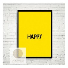 "Plakat ""HAPPY"" A4"