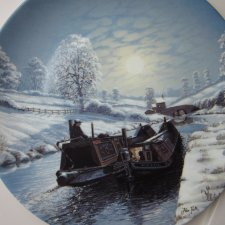 WEDGWOOD - limited edition - BETWEEN THE LOCK'S  BY ALAN FIRTH - WINTER MOONLIGHT -  bradex - kolekcjonerski talerz porcelanowy