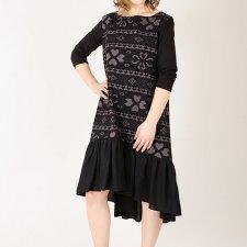 Sukienka z  bawełny we wzórS/M