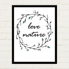 LOVE NATURE Plakat 30x40