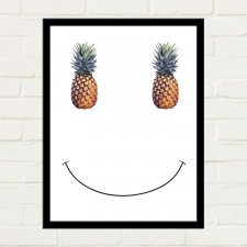 PINEAPPLE SMILE Plakat 30x40