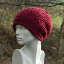 SYBERIANKA BORDO * 100% WOOL * CZAPA