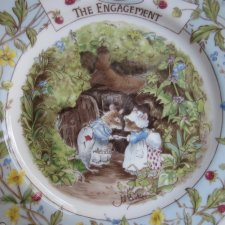 Royal doulton 1989  the  brambly HEDGE Gift collection  by Jill Barklem - the ENAGEMENT  - kolekcjonerski rzadko spotykany