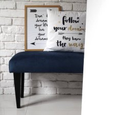 Ławka siedzisko gładka granatowa nogi do wyboru tapicerowana skandynawskie ławeczka NA WYMIAR