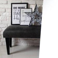 Ławka siedzisko tapicerowana skandynawskie pufa miękka wygląd skóry mebel ławeczka NA WYMIAR