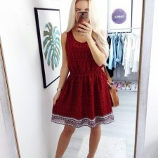 H&M Bordowa Boho