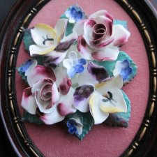 unique porcelain flowers -hand made handpainted