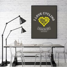 plakat. I love cycling (format B2)