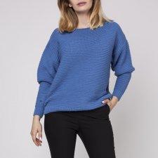 Sweter z fakturą, SWE160 niebieski MKM