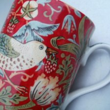 Royal  Worcester -William Morris design - Strawberry Thief crimson /slate  II