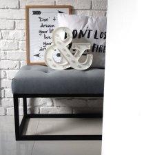 Ławeczka ławka LOFT STYLE nowoczesny styl nowoczesna pufa siedzisko do przedpokoju pikowana glamour indriustial