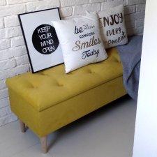 Skrzynia pikowana NA WYMIAR tapicerowana schowek otwierana wybierz kolor żółty limonka nowoczesna