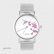 Zegarek, bransoletka - Koliber - metalowy