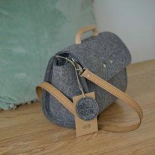 Mała szara filcowa torebka Felt&Wood II limitowana edycja