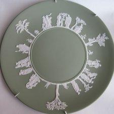Wedgwood Antique - kolekcjonerski niezwykle  elegancki  klasyczny duży 24 cm talerz porcelanowy rarytas rzadko spotykany