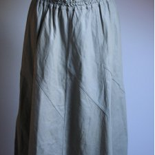 Gray leather vintage skirt