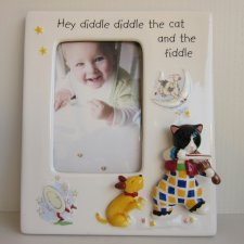AYNSLEY NURSERY RHYME COLLECTION - CAT & FIDDLE PHOTO FRAME