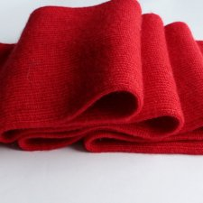 EXCLUSIVE WOOL SCARF hot red