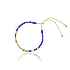 Bransoletka Minimal - Cobalt and Gold