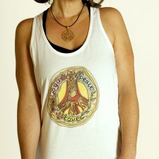 BLUZKA TYPU BOKSERKA Tank Top PEACE LOVE and YOGA
