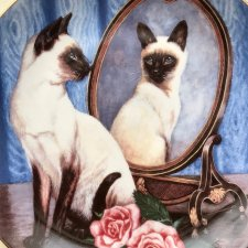 Najpiękniejsza... ❀ڿڰۣ❀ Franklin Mint Siamese Twins by Daphne Baxter ❀ڿڰۣ❀ Wyjątkowo uroczy