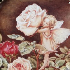 the rose fairy by CICELY Mary Baker 1987 barker Fine Bone China kolekcjonerski talerz porcelanowy