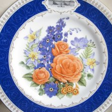 EXLUSIVELY - royal worchester 1988 CHELSEA flower plate   MADE IN ENGLAND - THE ROYAL HORTICULTURAL SOCIETY