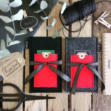 Etui gray&red # 3