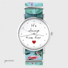 Zegarek - It is always time for love - flamingi, nato