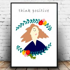 Plakat A4 think positive