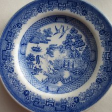 "Miniatura - the spode blue room collection  georgian series "" WILLOW ""  reproduced a hand engraved Cooper plate"
