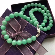 Green Jade Necklace - Perły z jadeitu ❀ڿڰۣ❀ Kamień szczęścia i harmonii