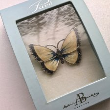 ❤ Butterfly brooch, Silver-plated ❤ Emalia ❤