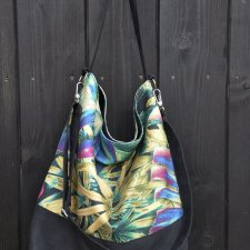 Torba hobo XXL - print monstera
