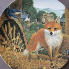 DAVENPORT 1991 -LIMITED EDITION - FOX IN THE BARN - ART BY STEVE HOLDEN - SECRET LIFE -FARM COLLECTION -BRADEX