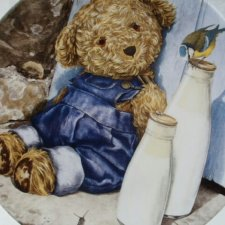 Royal Worcester 1997 - world of bears - by Leighton Beavis-West  COMPTON & WOODHOUSE kolekcjonerski talerz porcelanowy