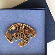 MODERNIST SOLID BRONZE BROOCH BY EIVIND HILLESTAD ❀ڿڰۣ❀ Broszka