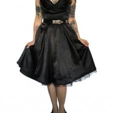 "Black dahlia ""Hearts&Roses"" retro pin-up rockabilly"