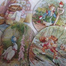 1989 the world of beatrix potter - 4 different puzzles each with 40 pieces- Frederick Warne & co  4  OBRAZKi puzzle Z BAJEK BEATRIX POTTER