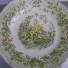 Royal doulton 1983 spring the afternoon tea plate the  brambly HEDGE Gift collection  by Jill Barklem