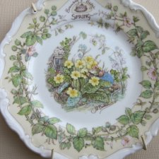 Royal Doulton BRAMBLY HEDGE collection 1983 SPRING  by Jill  Barklem 1983 kolekcjonerski talerzyk porcelanowy