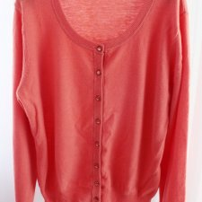EXCLUSIVE cashmere superfine wool cardigan coral
